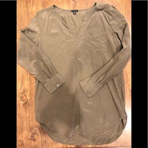 Ann Taylor Silk Long Sleeve Blouse